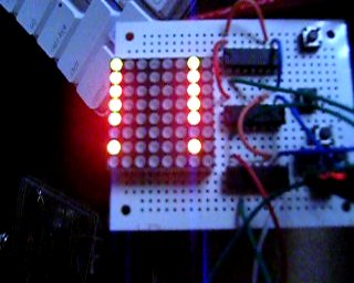 Frame from video: Some blinking leds
