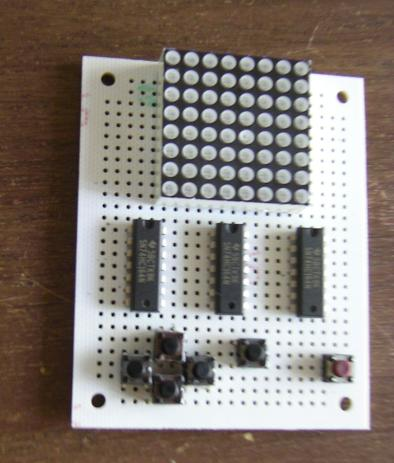 Protoboard with some components