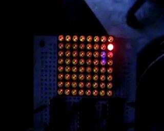 A single bouncing LED